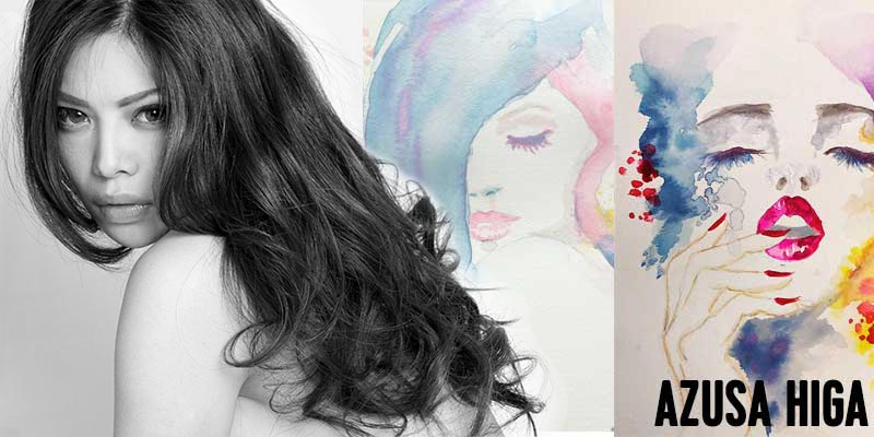 When beauty meets art. Azusa Higa on her paintings, and what makes a woman beautiful.