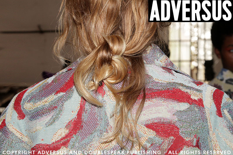 Summer hairstyle with different textures