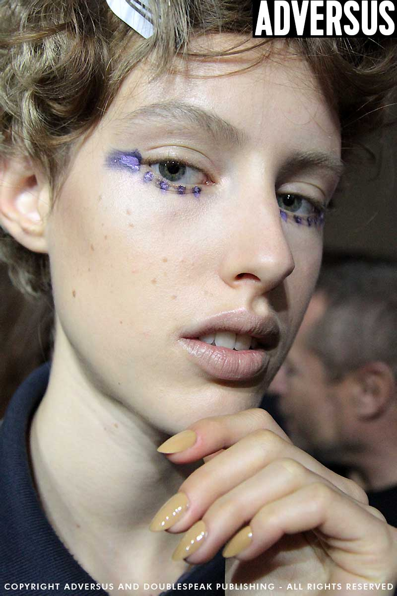 Theatrical make-up looks by Tom Pecheux with the M.A.C Cosmetics Team for the Antonio Marras SS 2018 Fashion Show