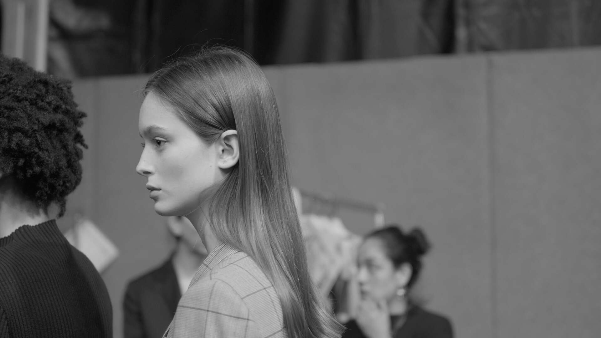 Beautiful models backstage at the Maryling Show MFW2019/2020