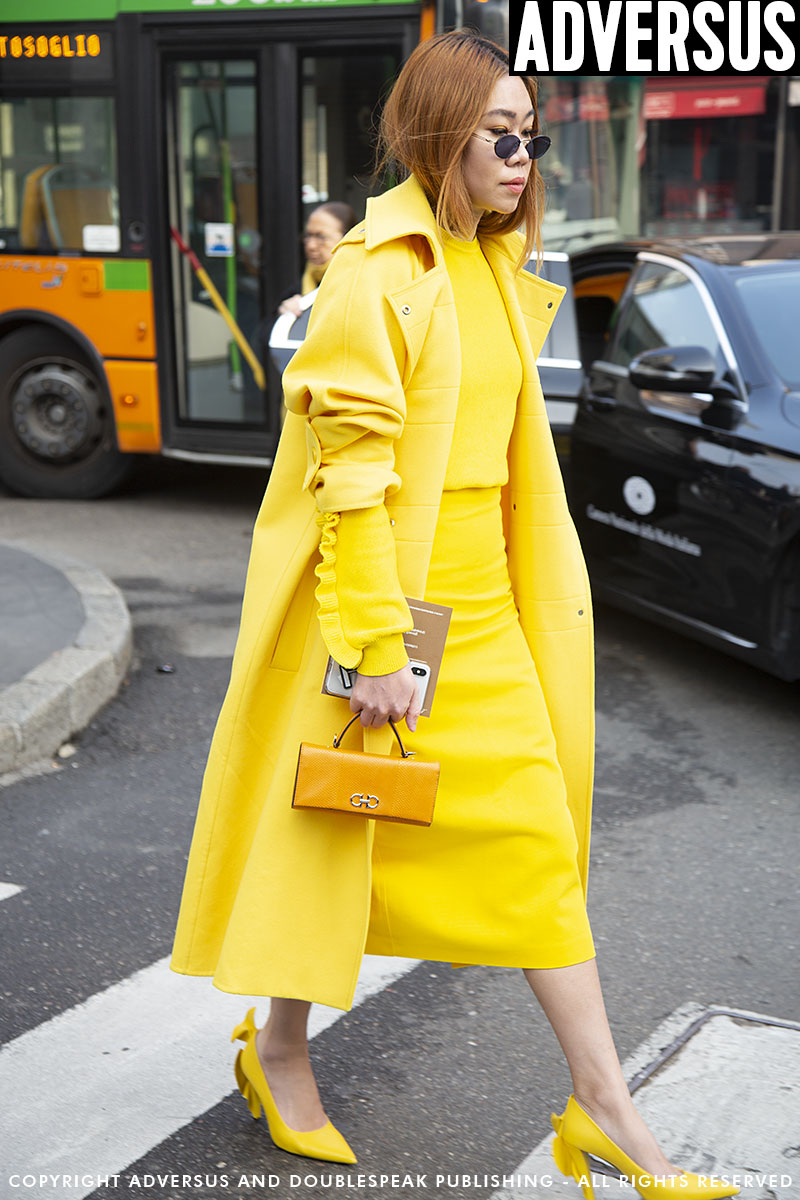 Street style at the Max Mara SS 2019 Fashion Show in Milano