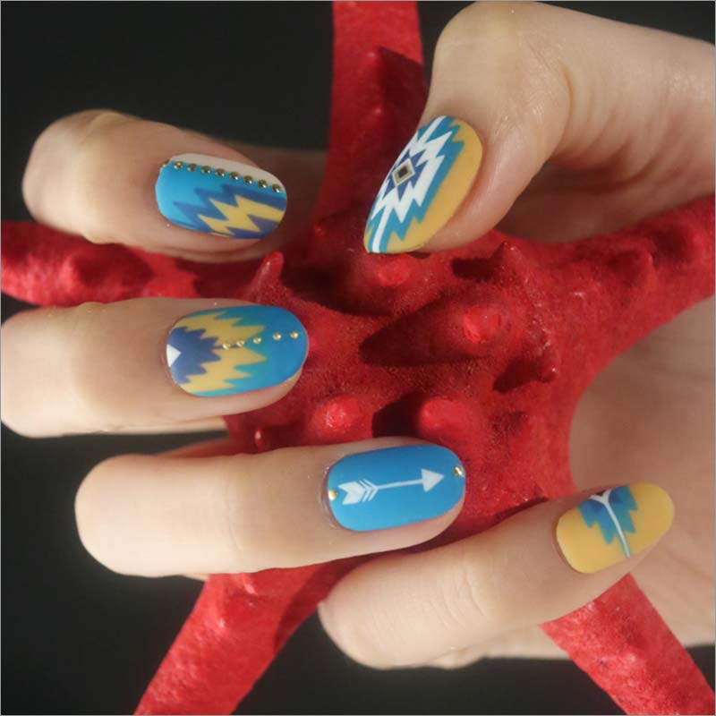 Nail Art Summer 2016: Graphic and Embroidery Pattern Art Designs - ADVERSUS